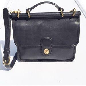Coach Willis Station Black Leather Bag Vintage